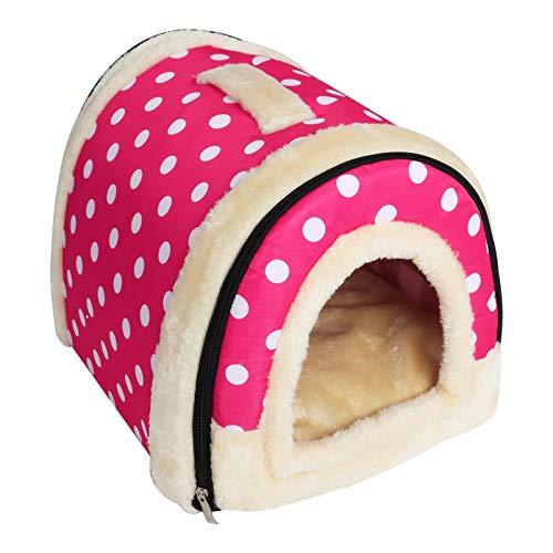 Cuccia per animali domestici Clutch Cuddle Bag Pet Sleeping Bag Letto per animali domestici lavabile Comodo tappetino da casa per Cuccioli di gatti Cuccioli di coniglio caldo (colore 3, M)