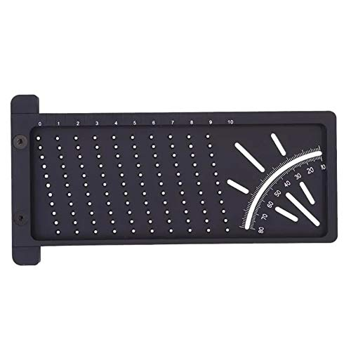 T-Typ-Kreuz-out Lineal Loch Position Messwerkzeug aus Kunststoff 3D-Präzisions-Holzbearbeitungs Anriss Meßlinie Hohe Präzisionsmesswerkzeug (Farbe : Black)