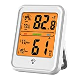 Voupuoda Termómetro higrómetro digital Medidor de temperatura y humedad interior Medidor de monitor con pantalla LCD para el invernadero de la oficina del dormitorio del hogar