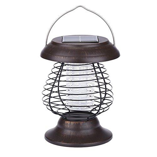 Docooler 0.3W Zanzara Lampada UV Solare & LED Lampada da Giardino e Lanterna per Caccia Pesca