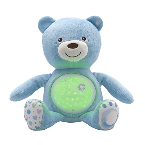 Chicco 00008015200000 Knuffel projector Baby Bear First Dreams blauw