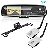 Pyle Backup Car Camera Rear View Mirror Screen Monitor System with Parking & Reverse Safety Distance Scale Lines, OEM Fit, Waterproof & Night Vision, 170° Angle Adjustable, 4.3' LCD Display-(PLCM4550)