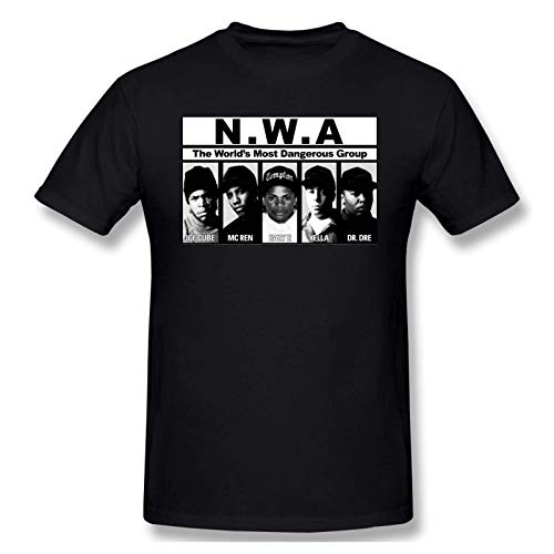 IUBBKI Camiseta básica de Manga Corta para Hombre Men Print with The N.W.A Flowchart Fashion Short Sleeve T-Shirt