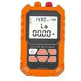 Accesorios comprobador para cables de alimentación Red Light Meter Optical Power Meter Fibra óptica del probador Mini Fiber Tester Potencia Lámpara Portátil Naranja Óptica
