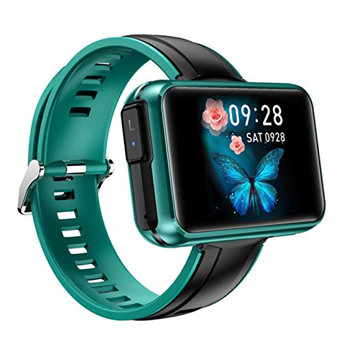 JXFF T91 TWS Wireless Bluetooth Headset Smart Watch para Hombres Y Mujeres 1.4 Pulgadas Bluetooth Llamada Monitor De Ritmo Cardíaco Deportes Smartwatch (para Teléfonos iOS De Android),D