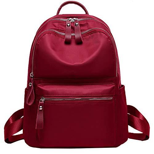 Vinteen Small Backpack Female Korean Version Wild Fashion Tide Shoulder Bag Waterproof 2019 Nylon School Bag Oxford Cloth Double Shoulder Package Festive (Color : A)