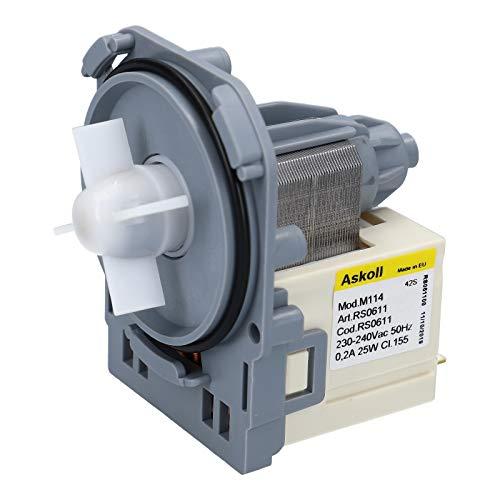 LUTH Premium Profi Parts Magnetpumpe Pumpe Ablaufpumpe Laugenpumpe Waschmaschine für AEG Electrolux Zanker Zanussi Privileg 132208201 1326630008 oder 1326630009