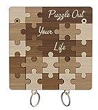 Llavero Puzzle para Parejas - Llavero pareja de madera originales - Regalos Aniversario para Hombre - Decoración e ideas de regalo para cumpleaños, San Valentín -