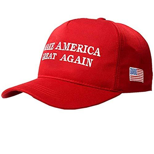 MAGA Hat Make America Great Again Donald Trump Slogan with USA Flag Cap Adjustable 2020 Keep America Great Baseball Hat (Red)