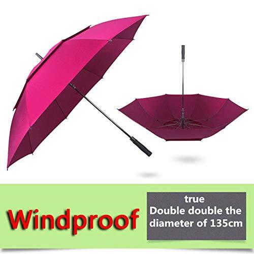 DACCU golf paraplu mannen sterke winddicht Semi automatische lange paraplu grote man en vrouwen Business paraplu's mens Custom logo,135 Winddichte wijn, Spanje