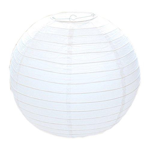 Huahan Haituo White Round Paper Lampshade Classic Bamboo Style acanalado pantalla White Round Paper Lampshade Classic Bamboo Style acanalado pantalla (20cm/8')