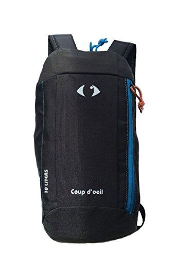 X-Sports Golpe D con niños Adultos al Aire Libre Mochila Daypack Mini pequeño bookbags 10L, niña Hombre Niño Mujer Unisex (Negro)