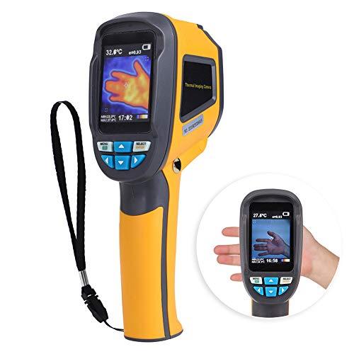 【 】 Cámara termográfica infrarroja, HT-02D Cámara de imágenes térmicas IR de mano Pantalla a color 1024p 32x32 Resolución Termómetro digital Instrumento de medición
