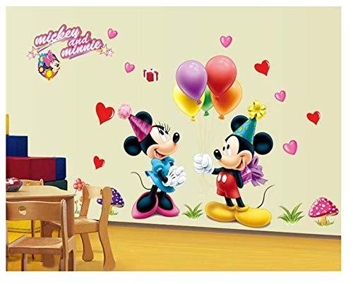 Mickey Mouse Minnie Mouse Plutón Disney Pegatina de pared Mural Arte deco Casa Decoración de pared Decoración Calcomanías Cuarto del bebé