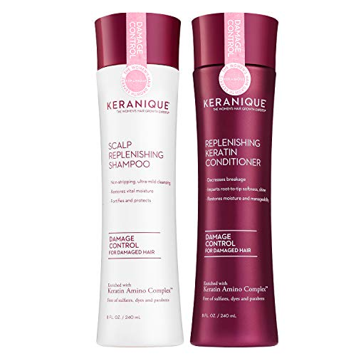 Keranique Damage Control Shampoo and Conditioner Set for Hair Growth and Thinning Hair |...