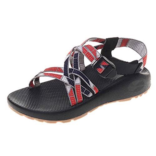 Zapato para Mujer Verano Sandalias Trekking Sandalias Senderismo Casual Deportivas Antideslizante Respirable Fondo Grueso Aldaba Sandalias para Estudiante,Fiesta,Turismo,Pool