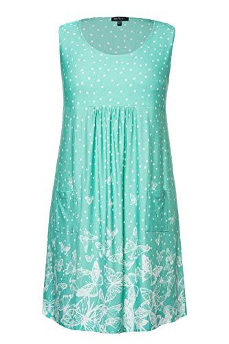 Ulla Popken Damen große Größen Jersey-Kleid aquagrün 46/48 747523 45-46+