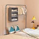 "GRANNY SAYS 3-Shelf Hanging Closet Organizer, Collapsible Hanging Closet Shelves, Hanging Organizer for Closet & RV, Gray, 23.6"" H X 12.2"" W X 12.2"" D"