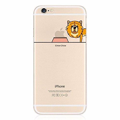 THEcoque Cover Rigida di qualità iPhone 6/6S Plus–Cane Dog Pug Chihuahua Bull Fantasia Design Swag, Motivo Design Case + Pellicola di Protezione in Omaggio