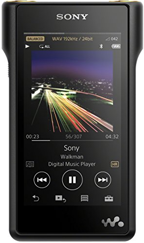 Sony High-Resolution Audio NW-WM1A Walkman (128 GB Speicher, Micro SD Slot, S Master HX Engine, Aluminium Gehäuse, 4 Zoll LED-LCD Multi-Touchdisplay) schwarz