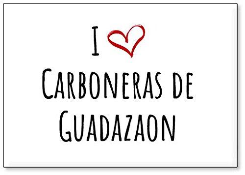 Mundus Souvenirs - Amo Carboneras de Guadazaon, Imán para Nevera (diseño 1)