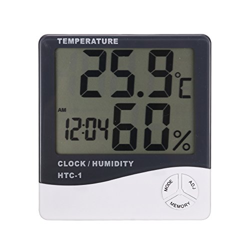 Termómetro ambiental Higrometro LCD Pantalla Medidor Temperatura