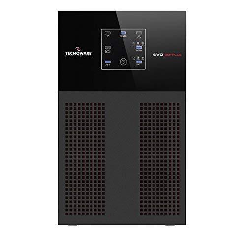 Tecnoware UPS EVO DSP PLUS 1000 Gruppo di Continuità - Tecnologia On Line, Installazione Tower - 4 Uscite IEC - Autonomia fino a 15 min - Potenza 1000 VA