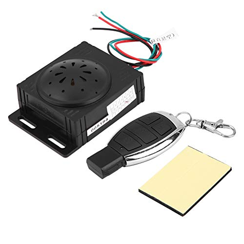Terisass Motorcycle Anti-Theft Security System Universal 9-16V Anti-Theft Security Alarm System with Remote Control ABS Scooter Motorcycle Accessories