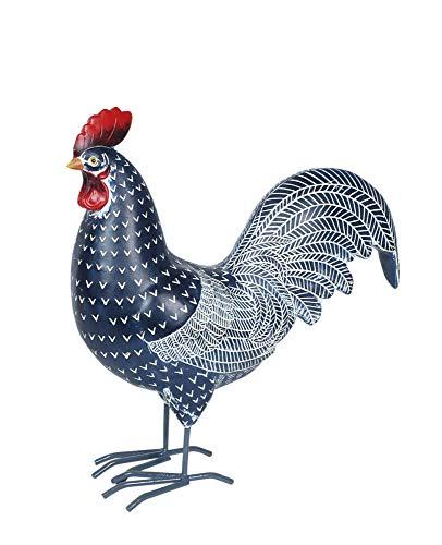 AVENUELAFAYETTE Statuette Coq couleur argent 16 cm
