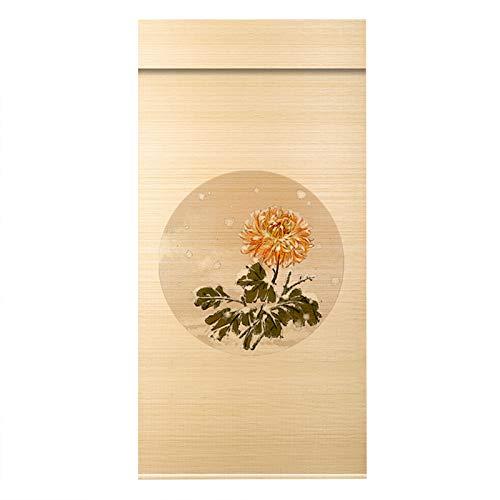 CHAXIA Bambus Rolle Bambusrollo, Haus Dekoration Retro Partition Sonnenblende Fensterläden Tee Raum Hängende Bilder, Größe Angepasst (Color : B, Size : 110cmX180cm)