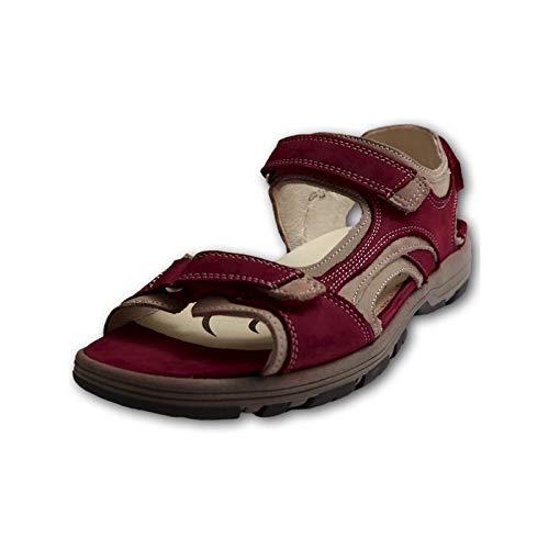 Waldläufer Damen Sandalen Weite H Rot, Schuhgröße:EUR 39