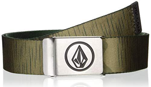 Volcom Circle Web Belt Ceinture pour homme, Vert (Camouflage), Taille Unique