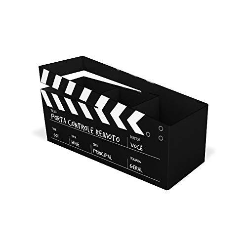 Porta-Controles Remoto Cinema Preto Divertidos GeGuton Preto/Estampa
