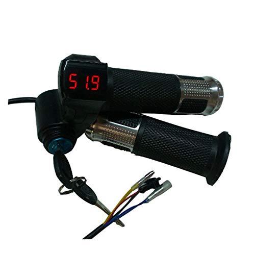 KXLB Kxlbhjxb 12V / 24V / 36V / 48V / 60V / 72V Acelerador, con Motor LCD Pantalla LCD Interruptor eléctrico Bicicleta/Scooter/Mango Accesorios para Bicicletas (Color : Silver)