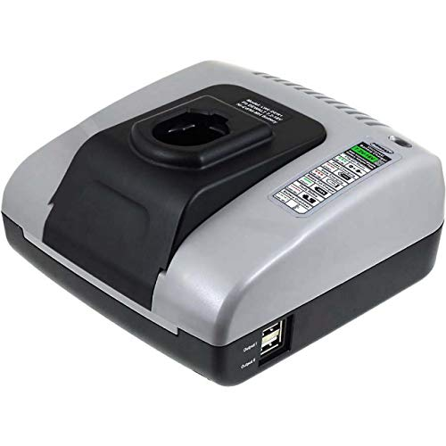 akku-net Akku-Ladegerät mit USB für ELU Bohrmaschine BSA31K, 7,2V-18V