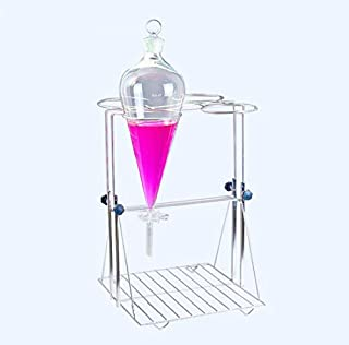 1000ml x 4 Laboratory Funnel Support Stainless Steel Separatory Funnel Racks Adjustable Height(9