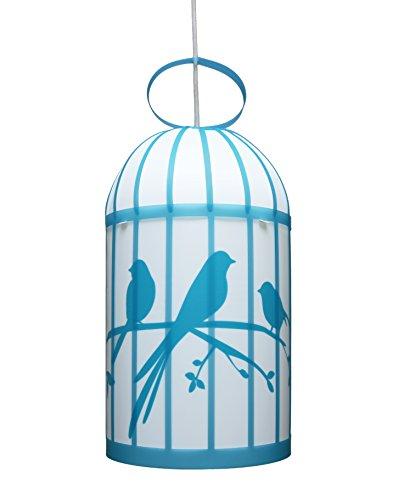 R & M Coudert lámpara colgante niño jaula en los pájaros turquesa
