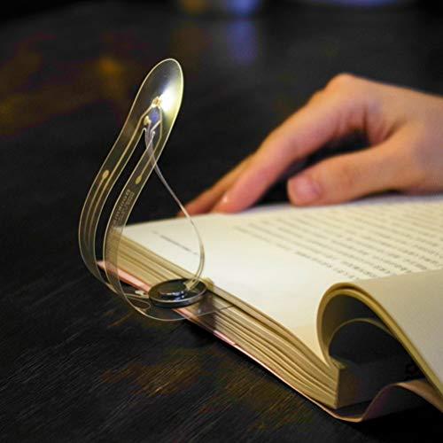 Luminária de leitura de livro com 2 peças Uonlytech para crianças estudantes, luminária de leitura com clipe ajustável para viagem, mini luz noturna para sala de livros, casa, cama, carro