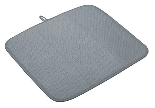 KitchenCraft superabsorberande stor disktorkmatta, 45 x 40 cm (17,5 x 16 tum) – grå