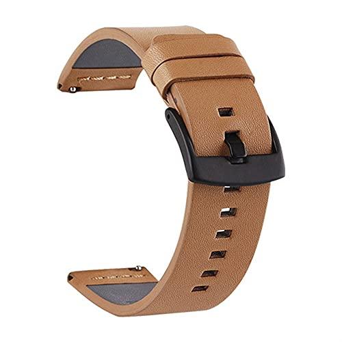 Banda de reloj de cuero genuino 20 22 mm for reloj Samsung 46mm 44mm 42mm 40 mm correa for Wei Watch (Band Color : 3, Band Width : 22mm)