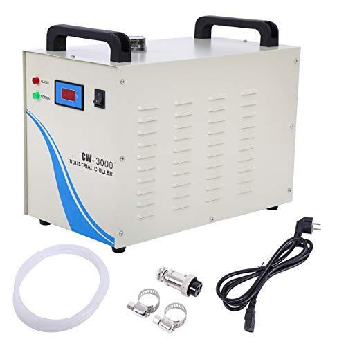 Paneltech 50W 3000AG / 5000AG / CW-5200DG 9L Agua Enfriador Industrial Chiller Industrial Agua Chiller Enfriador para CNC láser de Grabado Grabado máquinas Agua de Refrigeración Chiller (3000AG)