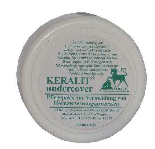 Keralit Undercover Pflegepaste 235g Vorbeugung Hornzersetzung, Strahl, Sohle, Eckstreben und hohlen Wänden. Bei orthop. Beschlägen geeignet