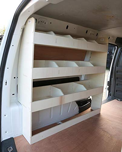 Passend für VW Caddy Maxi ab 2010 Sperrholzregal - NS Hecklagersystem - Werkzeugregal