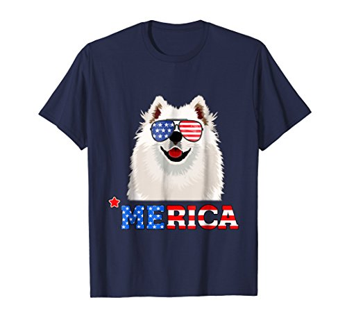 Merica Funny Samoyed 4th Of July Gifts Tees