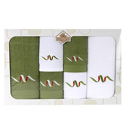 Westward Ho! 1134GN Signature - Towel (6 piezas, 1 unidad), color verde