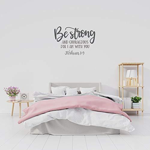 Calcomanías de pared con frase inspiradora 'Be Strong and Courageous', para pared, diseño de Joshua 1:9, para dormitorio, sala de estar, oficina, decoración del hogar