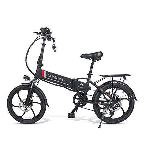 Samebike 20LVXD30 Electric Bike 26'Aluminum alloy suspension mountain frame (Black)