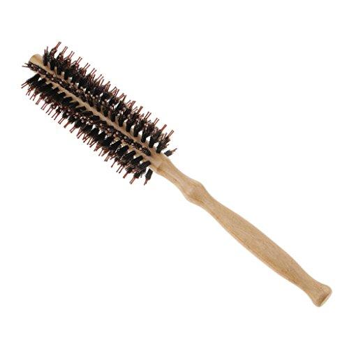 MERIGLARE Brosse à Cheveux Ronde à Poils De Sanglier Purs, Antistatique