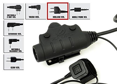 Taktische U94 PTT NEUE Version Jagd Headset Zubehör Z115, PTT mit taktischen Kopfhörern, Headset-Adapter, Outdoor Kopfhörer, Außenausrüstung, Anti Interferenz (Z115-MIL)