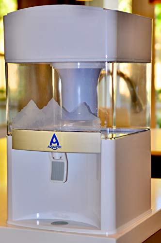 AQUASPREE Premium 5 Gallon Countertop Water Purification System. Transform Regular Tap Water to Smooth Clean Refreshing Alkaline Mineral Drinking Water